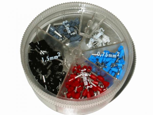 Sortiment 0,5mm²-2,5mm² Aderendhülsen (Streudose)