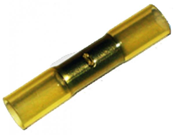 (68.001) Schrumpfschlauch Stoßverbinder 4mm²-6mm² Gelb mit Kleber Typ CSSV (100 Stück)