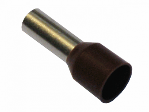 10,0mm² Aderendhülsen Braun (100 Stück)