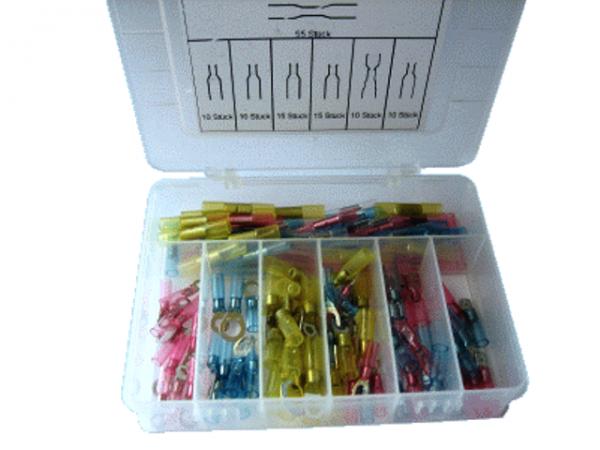 Sortiment Box Schrumpfschlauch Crimp Verbinder mit Innenkleber S24-Set-CS