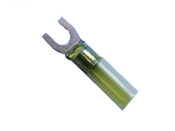 (69.600) Schrumpfschlauch Gabelverbinder 4mm²-6mm² Gelb M5 mit Kleber Typ CSGV (100 Stück)