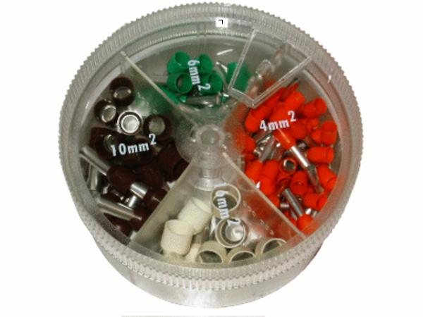 Sortiment 4mm²-16mm² Aderendhülsen (Streudose)
