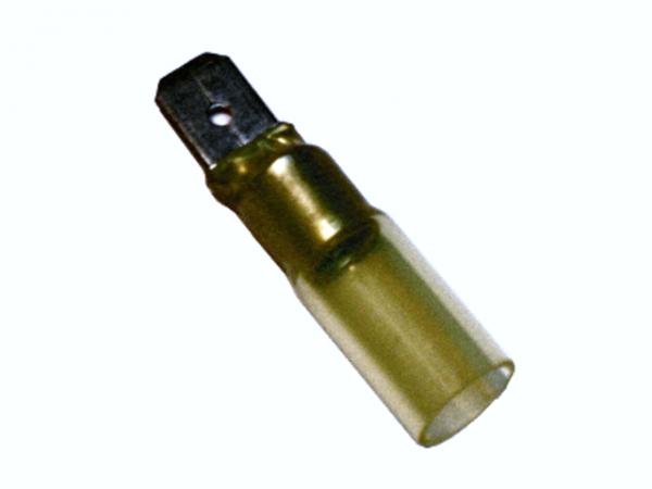 (60.003) Schrumpfschlauch Flachstecker 4mm²-6mm² Gelb mit Kleber Typ CSFS (100 Stück)