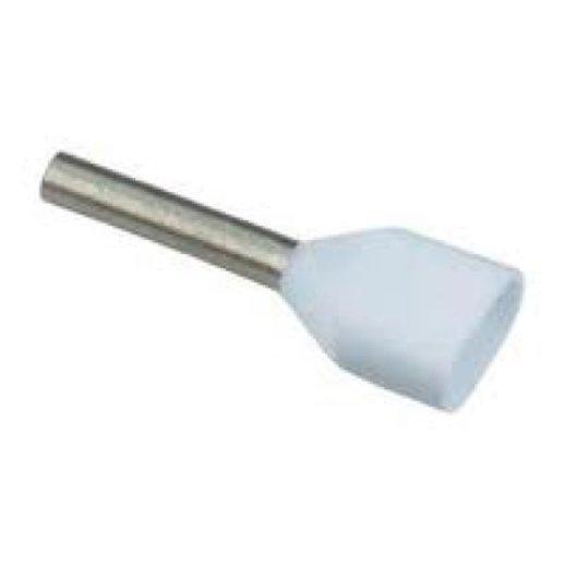0,5mm² x 2 TWIN-Aderendhülsen Weiss (500 Stück)