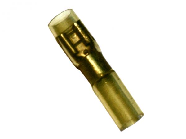 (61.030) Schrumpfschlauch Flachsteckhülse 4mm²-6mm² Gelb mit Kleber Typ CSFSH (100 Stück)